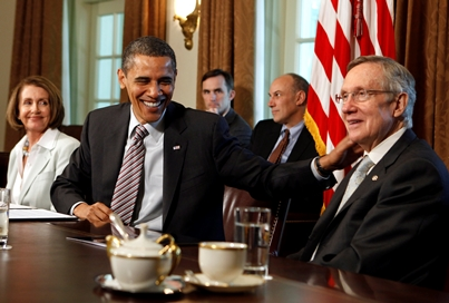 Barack Obama y Harry Reid