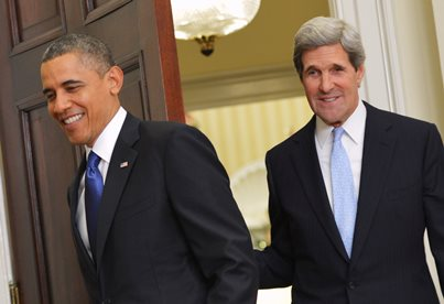 Barack Obama y John Kerry