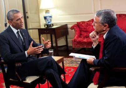 Barack Obama y Thomas Friedman
